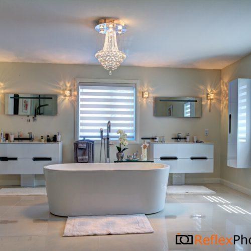 toile alternée salle de bain - Store Design plus